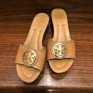Tory Burch Wooden Wedge Sandals 7.5